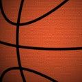Orange/Brown Basketball close up background Royalty Free Stock Photo