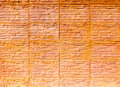 Orange brown brick wall Royalty Free Stock Photography