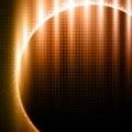 Orange-brown light effects on metal pattern Royalty Free Stock Photo