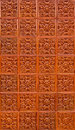 Orange brown thai pattern tile Royalty Free Stock Images