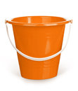 Orange bucket empty on a white background Stock Photography