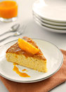 Orange cake components of the Royalty Free Stock Photos