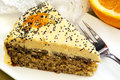 Orange Cake with Poppyseeds Royalty Free Stock Image