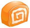 Orange cake roll with cream