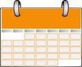 Orange Calendar Royalty Free Stock Photo