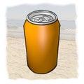 Orange can imaginative design of Stock Photo