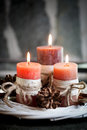 Orange candles Royalty Free Stock Photo