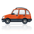 Orange car vector image of an cartoony Stock Photography