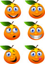Orange cartoon character Stock Image