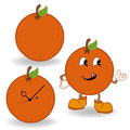 Orange cartoon vector Royalty Free Stock Image