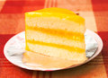 Orange cheese cake Royalty Free Stock Images