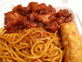 Orange Chicken & Lo Mein Stock Photos