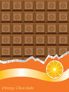 Orange chocolate bar Stock Photo
