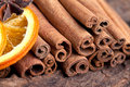 Orange with Cinnamon and Anise Royalty Free Stock Photos