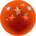 Orange circle Royalty Free Stock Photos