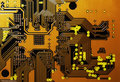 Orange Circuit Board Royalty Free Stock Photography