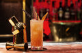 Orange cocktail with garnish Royalty Free Stock Photo