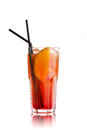 Orange Cocktail on white Royalty Free Stock Photo