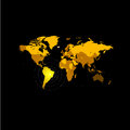 Orange color world map on black background. Globe design backdrop. Cartography element wallpaper. Geographic locations