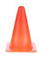 Orange cone used warning sign under construction work area Royalty Free Stock Photo