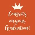 Orange Congrats on your Graduation greeting card