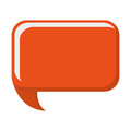 orange conversation bubble