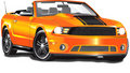 Orange Convertible Stock Images