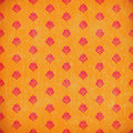 Orange damask grunge wallpaper Stock Photography