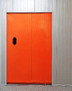 Orange door Royalty Free Stock Photos