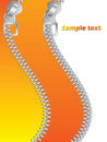 Orange Double Zippered Royalty Free Stock Images