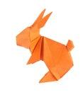 Orange easter bunny of origami Royalty Free Stock Photo