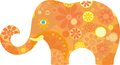 Orange elephant Royalty Free Stock Photo