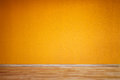 Orange empty room wall in Stock Image