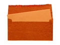 Orange envelope Stock Images