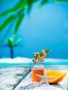 Orange essential oil treatment Royalty Free Stock Photo
