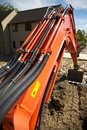 Orange Excavator Arm Stock Photos