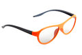 Orange eyeglasses isolated on white Royalty Free Stock Images