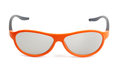 Orange eyeglasses isolated on white Royalty Free Stock Image