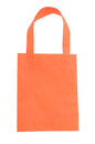 Orange fabric bag Stock Images