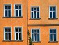 Orange facade Stock Photo