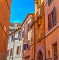 Orange facades in Trastevere