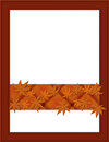 Orange fall frame for your message or invitation with copy space in the middle Stock Images