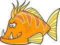 Orange fish Vector Stock Image