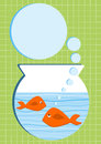 Orange Fishes Aquarium Invitation Card Royalty Free Stock Image