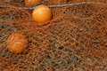Orange fishing nets Royalty Free Stock Photo