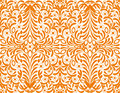 Orange floral background, seamless wallpaper Royalty Free Stock Photos