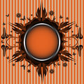Orange floral frame Royalty Free Stock Images