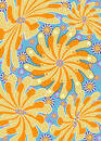 Orange floral funk Stock Photo