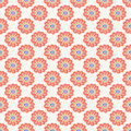 Orange floral seamless pattern. Doodle simple kids background. Hand drawn wallpaper. Royalty Free Stock Photo