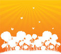 Orange flower background Royalty Free Stock Photography